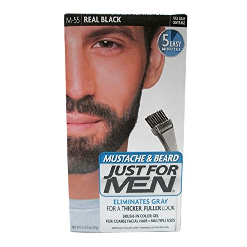 Price comparison product image JUST FOR MEN Color Gel Mustache & Beard M-55 Real Black 1 Each (Pack of 2)