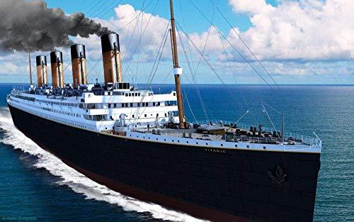 Visionpz 1000-teiliges Puzzle für Erwachsene Titanic: Kreuzfahrtplakat Familien DIY Puzzles Dekomprimieren des intellektuellen Lernspielzeugs für Kinder Bestes Puzzlespiel 75x50cm