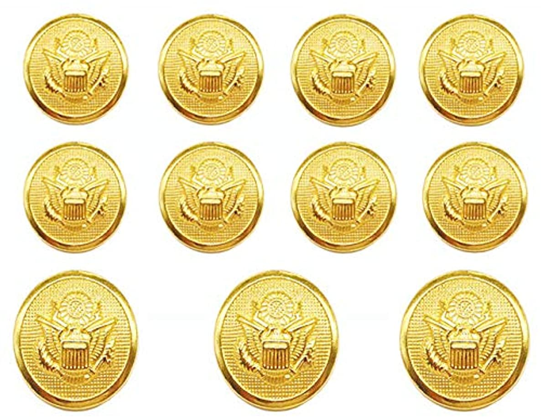 YCEE 11 Pieces Gold Metal Blazer Button Set - Eagle Badge - For Blazer, Suits, Sport Coat, Uniform, Jacket (Gold)