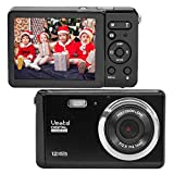 Compact Digital Camera, Vmotal 2.8' LCD 12MP Rechargeable Digital Camera with 8X Digital Zoom Auto Flash 1080P Video Camera for Kids Teenagers Gifts (Black)