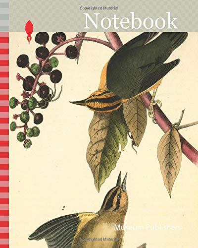 Notebook: Worm-eating Swamp-Warbler. 1. Male. 2. Female. (American Poke-weed. Phytolacca decandra.), Audubon, John James, 1785-1851