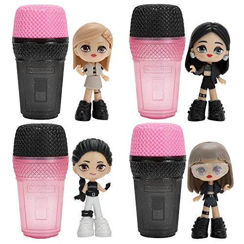 """BlackPink Micro Pop Stars, Mystery Surprise Figures 4 Pack - 3"""" Kpop Idol Dolls - Features Lisa, Jennie, Jisoo, and Rosé - 1 of 3 Styles Chosen at Random - Interchangeable Outfits and Accessories"""