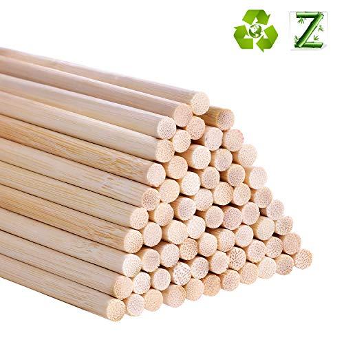 Bambusstäbe zum Basteln, 30,5 cm, lange Holzstäbchen für Heimwerker, 55 Stück 5mm / 0.20inch Wald