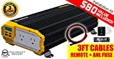 KRIËGER 2000 Watt 12V Power Inverter, Dual 110V AC outlets, Installation kit Included, Back up Power Supply for Small appliances, MET Approved According to UL and CSA Standards.