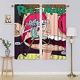 lacencn Rick and Morty - Cortinas de oscurecimiento para dormitorio, cortinas para cortinas de baño, 55 x 72 cm