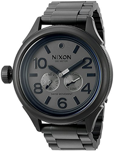 Nixon Men's October Tide Quartz Metal and Stainless Steel Watch, Color:Grey (Model: A4741062-00)