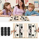 KwuLee Brettspiel Hockey, Fast Sling Puck-Spiel with Wooden, Katapult Brettspiel Brettspiele für 2 Personen, Eltern-Kind Interaktives Spielzeug-Partyspiel für Erwachsene, (35x22x2.7cm)