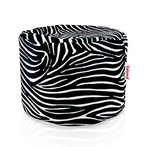 pouf zebra Italpouf Pouf Poggiapiedi Cilindro Design 40 Ø x 55 cm Pouf Tessuto Morbido Puff Sfoderabile! Puf Imbottito! Pouf Bambini 24 Diverse Fantasie! (Zebrato)