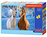 Castorland The Winter Horses 260 pcs Puzzle - Rompecabezas (Puzzle rompecabezas, Fauna, Niños y adultos, Cabello, Niño/niña, 8 año(s)) , color/modelo surtido