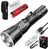 Klarus XT11X Lampe Torche Tactique 3200 lumens CREE XHP70.2 P2 LED Lampe de Poche Torche EDC USB Rechargeable Puissant Sports de Plein air, avec 1 * Batterie 18650 + Ruyu Light