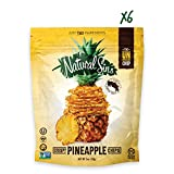 Natural Sins Baked Pineapple Chips   1 Ounce Bag (Pack of 6)   Vegan, Gluten-Free, Paleo, Crispy + Thin, Dried Fruit Snack Food