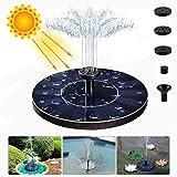 LIUMY Solar Springbrunnen, 1.4W Solar Teichpumpe mit 4 Effekte | Maximum 70cm Höhe Solar...