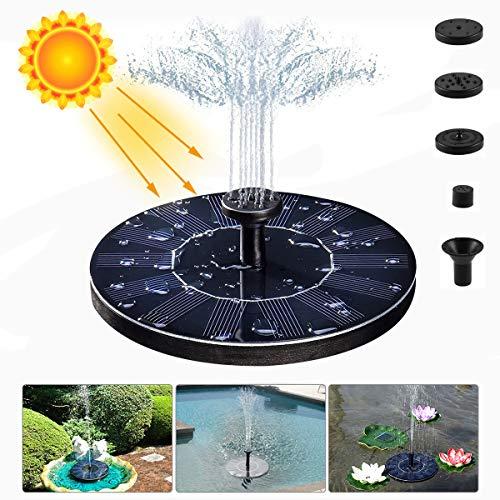 LIUMY Solar Fuente Bomba,1.4W Fuente Solar Jardín Solar Panel Flotador Fuente,Kit de Bomba Sumergible para el Aire Libre Baño de Aves, Estanque, Piscina, Patio, decoración de jardín