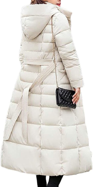 Womens Winter Faux Fur Collar Parka Warm Long Down Thicken Coat Overcoat