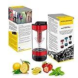 Intelishake H20 INFUSE - Rosso Fuoco - Bottiglia per acqua, Shaker per bevande proteiche, ...