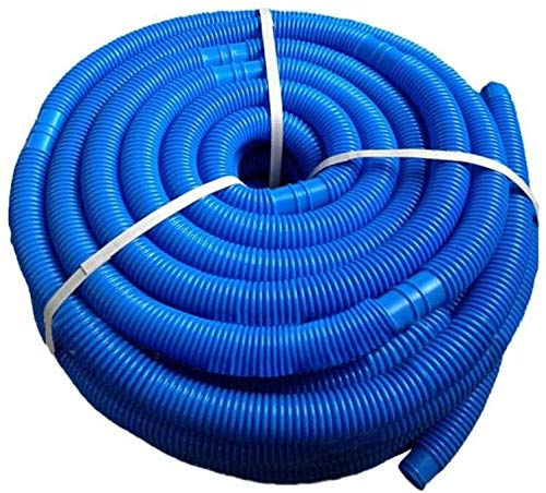 HLJ Duradera Piscina Manguera, de 38 mm de diámetro y 6 m de Longitud, Anti-UV y Cloro Manguera del Filtro con Conector extraíble, 6 Secciones/Cada sección es de 1 m de Largo