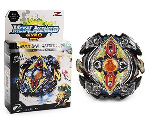 ML 1 Juego de peonza Estilo Bey Burst Blade con Lanzador de Mano peonza Juguete con Lanzador de Mano Espada Bey (Negro)