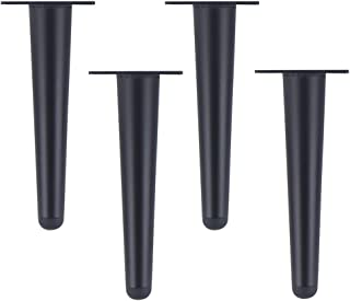 OWUV Metal Furniture Legs, Stainless Steel Sofa Support Feet, Straight Cone/Oblique Cone, 4 Pcs Load Capacity 800kg, Coffee Table/TV Cabinet/Bathroom Cabinet Replacement Legs/Nightstand