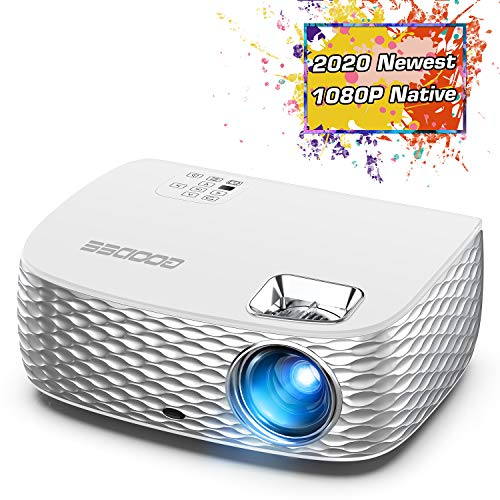 Projector, GooDee BL98 Native 1080P HD Video Projector, Touch Keys Home Theater Projector with 50,000 Hrs Lamp Life, Compatible with Fire TV Stick, PS4, HDMI, VGA, AV and USB