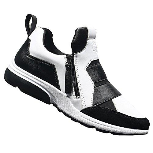 ZongSen Homme Chaussures de Running Course Multisports Outdoor Noir&Blanc 44