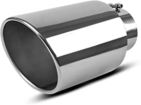 Maxiii Exhaust Tip 5 Inch Inlet x 8 Inch Outlet x 15 Inch Long Chrome Polished Stainless Steel Tailpipe