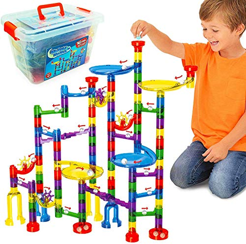 Marble Mania 162 Piece Marble Run For Kids - Construction Toys For 4-8 Year Old Boys or Girls