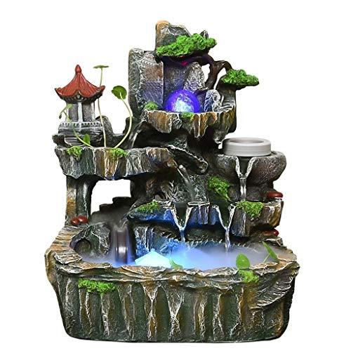 Hong Yi Fei-shop Zimmerbrunnen Kreative Brunnen Wohnzimmer Büro Desktop Brunnen Fischteich Business Geschenk Desktop Dekoration innenbrunnen Wasserfall