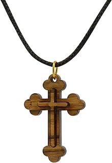 81stgeneration Collar Colgante Cruz De Madera Cruz Jerusalen Cruzados