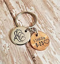I Still Do Anniversary Gift for Husband or Wife Entwined Hearts Lucky Penny Keychain