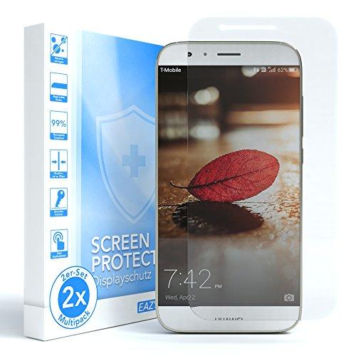 EAZY CASE 2X Panzerglas Bildschirmschutz 9H Festigkeit kompatibel mit Huawei G8, nur 0,3 mm dick I Schutzglas aus gehärteter 2,5D Panzerglasfolie, Bildschirmschutzglas, Transparent/Kristallklar