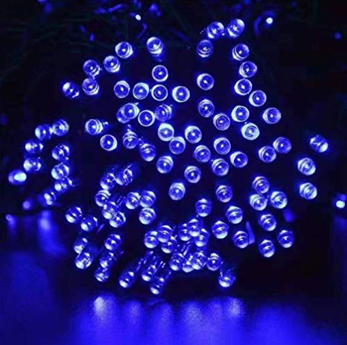 Luces solares LED luces de colores no enchufable al aire libre impermeable parque patio proyecto iluminación luces decorativas 6m 30 azul claro