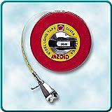 Medid MD/265050 Cintas métricas metálicas con estuche recubierto, 50 m