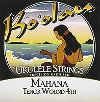 【KO'OLAU STRINGS】 MAHANA TENOR WOUND 4TH テナー用 ウクレレ弦 セット(クリアナイロン 4弦のみ巻弦 Low-G)