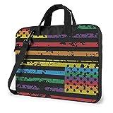 Laptop-Tasche Schulranzen-Tablet, Regenbogen amerikanische Flagge Handgriff tragen Computertasche, Laptop-Umhängetasche Superdünn langlebig für Business Casual oder Schule