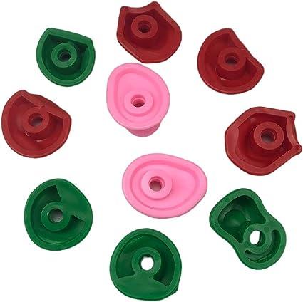 ORETG45 Juego de 10 piedras de escalada de colores para ...
