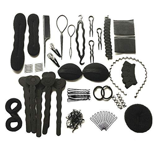 HosDen Haarstyling Zubehör Set, Haar Design Styling Werkzeuge Zubehör DIY Haar Zubehör Haar Modellieren Werkzeug Kit Friseur Kit Set Magic Einfache Fast Braiding Tool (Set von 20)