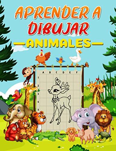 Aprender a Dibujar Animales: Cómo dibujar animales, libro de dibujo para niños, Libro de actividades con 50 proyectos paso a paso para niños, libro para colorear