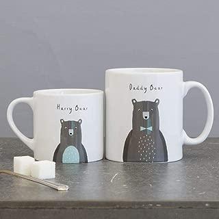 Small Bear Bear,PERSONALISED Bear Family Mug Set - Fun Mummy Daddy Baby Bear New Home Gift - Mama Papa Toddler Children Christmas Eve Box Present Gift