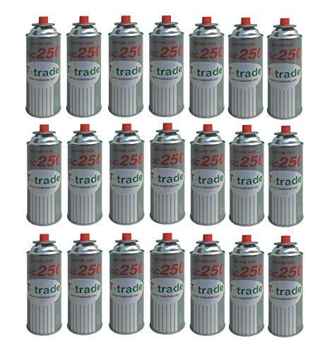 ALTIGASI Lot de 21 Cartouches de gaz GPL 250 g KCG250 Fer à souder idéal pour cheminée ou cuisinière Bistro Compatible Campingaz CP250 Brunner