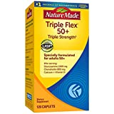 Nature Made TripleFlex Triple Strength 50+ Caplets with Glucosamine and Chondroitin, 120 Count for Joint Support† (Packaging May Vary)
