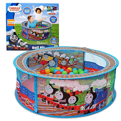 Sunny Days Entertainment Thomas & Friends Ball Pit – Indoor Play Tent for Kids | Nickelodeon Thomas The Tank Engine Pop Up Toy | Balls Included, Multi