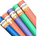 Sunbeach Spas Special 5 Pack Noodle Deal - Purple, Green, Blue, Pink, Orange; 1.5m / 150cm [Woggle Logs Swimming Pool Water Sport Lessons Aid Foam Family Holiday Kids Float Aerobic Therapy Exercise]