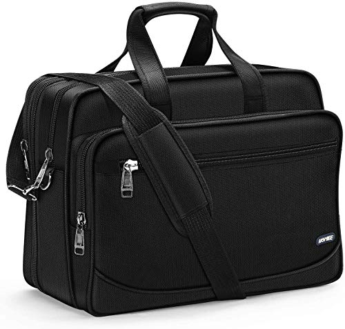 HOMIEE Business Briefcase Laptop Bag 17 Inch with Shoulder Strap, Expandable 3 Way Large Capacity Shockproof Shoulder Messenger Bag A4 File PC Computer Bag for Business, Travel, Work, Office