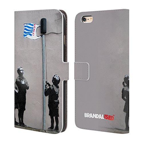 Head Case Designs Licenciado Oficialmente Brandalised Supermercado Graffiti de la Calle Carcasa de Cuero Tipo Libro Compatible con Apple iPhone 6 Plus/iPhone 6s Plus
