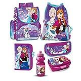 Disney Frozen Eiskönigin Schulranzen Mädchen 1 Klasse Tornister Schulrucksack Schultasche Set 5 Teilig Für Grundschule Super Leicht Unter 1 Kilo