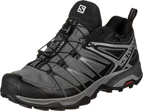 Salomon X Ultra 3 Gore-Tex, Impermeabile, Uomo, Scarpe da Trekking, Nero (Black/Magnet/Quiet Shade), 44 2/3 EU