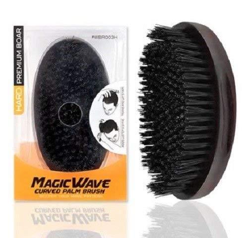 [PACK OF 2] MAGIC WAVE CURVED PALM BRUSH HARD PREMIUM BOAR WBR003H