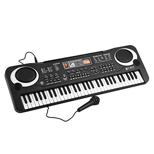 lzndeal Teclado de música electrónica 61 Teclas órgano eléctrico con micrófono Herramienta educativa temprana para niños