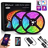 Elfeland LED Strip Lights WiFi 32.8FT 10M 300 LEDs SMD 5050 Color Changing Kit Work with Alexa Google Assistant Strip Lights Wireless Phone APP Controlled Rope Lights Flexible Tape Lights