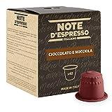Note D'Espresso Capsule Compatibili con Sistema Nespresso, Cioccolato e Nocciola, 40 caps